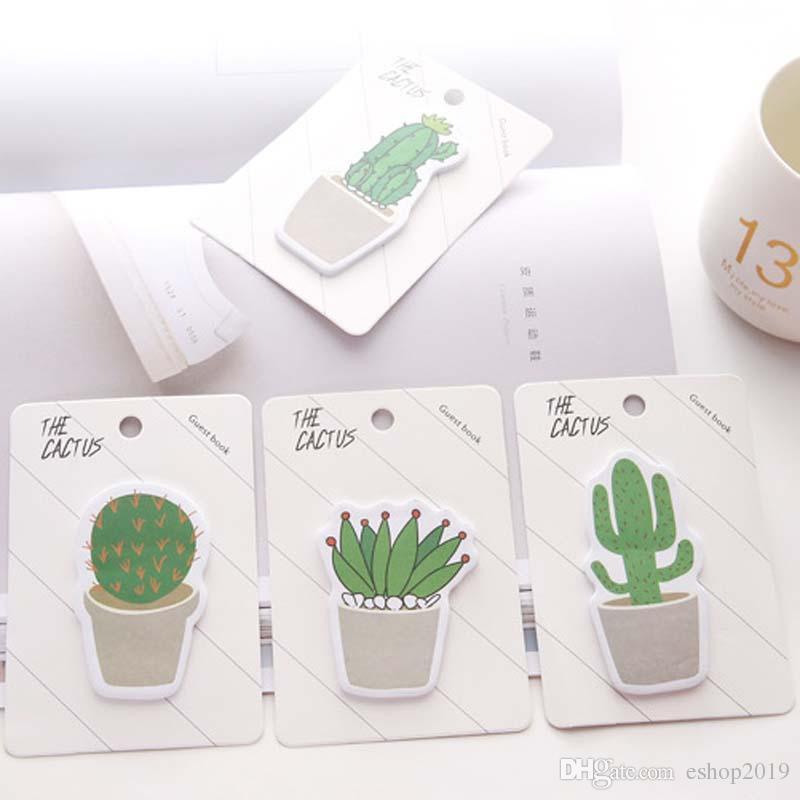 Niedlichen Kaktus Memo Pad Haftnotiz Aufkleber Memo Buch Hinweis Papier N Aufkleber Schreibwaren Büro Schulbedarf