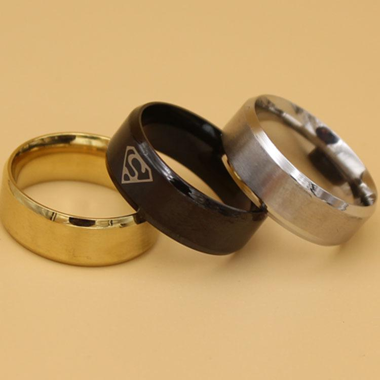 Men's Rings China Steampunk Wholesale Black Gold Silver Color Stainless Steel Jewelry Brand Men Simple Masonic Ring Stainless Steel Rings