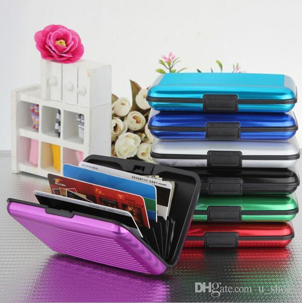 i 6 slot schede di vendita calda di superficie impermeabile del supporto di carta di alluminio di tasca di modo Pacchetto Business ID carta di credito della cassa del raccoglitore borsa