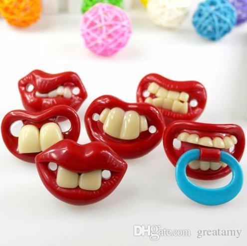 Горячее надувательство младенца соской смешно Симпатичные Зубы Усы Baby Boy девушка младенческой Pacifier Ортодонтическая пустышка Борода Соски пустышки сейф
