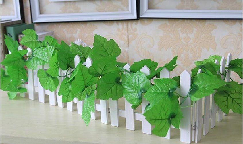 結婚式のホームオフィスのための6.8feet有線アイビーガーランドシルク人工的なつる緑