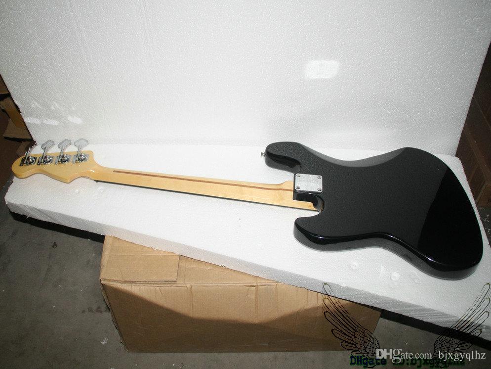 Instrumentos musicais de alta qualidade do Fingerboard baixo do bordo elétrico de 4 cordas do preto