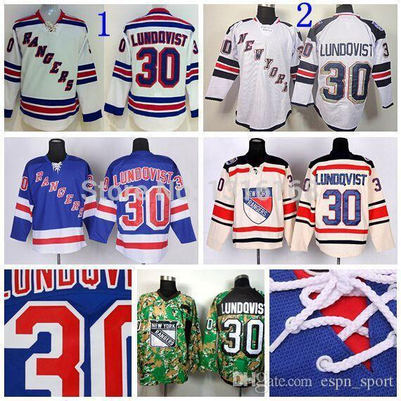 e07d1f252 2019 2015 Best New York Rangers Jerseys #30 Henrik Lundqvist Jersey Stadium  Series Ice Hockey Jerseys Team Color Blue Cream White Camo From Espn_sport,  ...