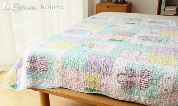 2018 Wholesale Cotton Quilt, Cartoon Thin Quilts, Girl Summer Air ... : thin quilts for summer - Adamdwight.com