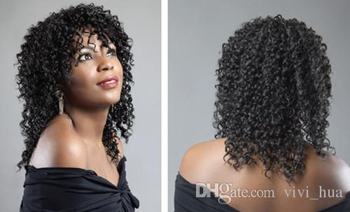 2019 New Like Human hair wigs for black women wigs Fashion short Curly straight hair Color high sythetic fiber Natural Virgin Realistic Wig