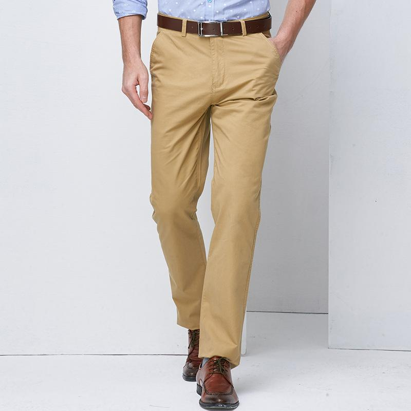 eeee9353727 2019 Wholesale 2017Men Brand Stretch Khaki Pants Mens Slim Fit Quality  Trousers For Man Cotton Business Casual Modern Pantalones Hombre No Belt  From Genguo