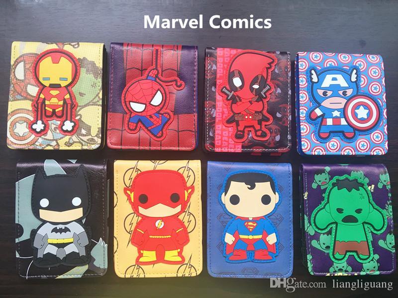8171c85db Compre Cómics DC Marvel The Avengers Cartera De Dibujos Animados Cute  Superman Iron Man Batman 3D Purse Logo Credit Credit Holder Man Wallet A  $3.05 Del ...