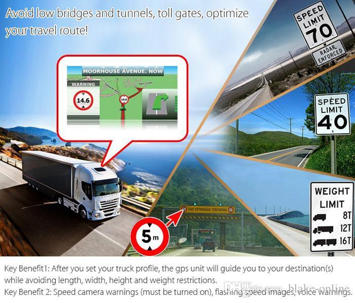HD 7 بوصة سيارة تحديد المواقع والملاحة وزير الخارجية الارسال شاحنة تنقل إشارات سريعة السبت NAV مع 8GB خرائط جديدة