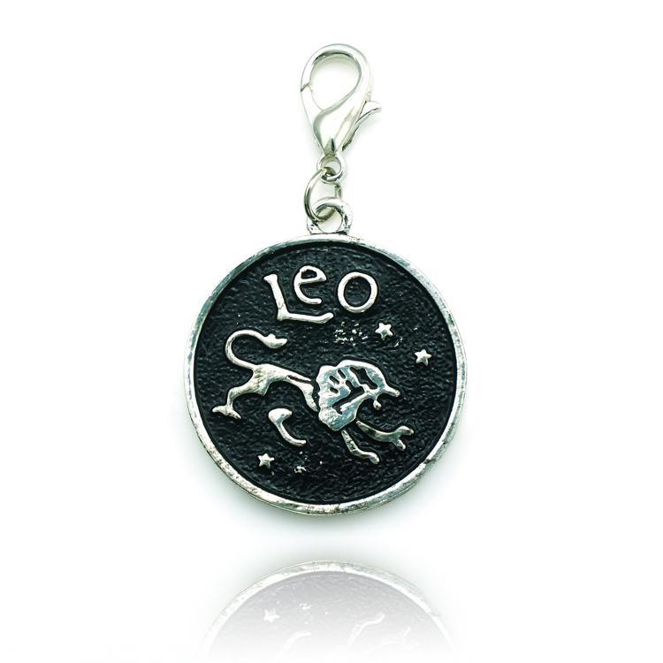 Nyligen flytande charms fönsterpläterad legering hummer clasp charms tolv konstellation diy nyckelring smycken tillbehör