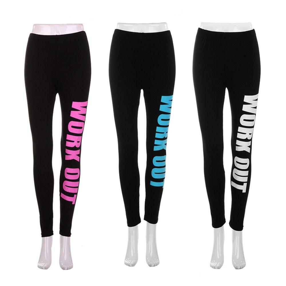 e543e133a3b Wholesale-Punk Rock Sports Leggings Women Pencil Fitness Workout ...
