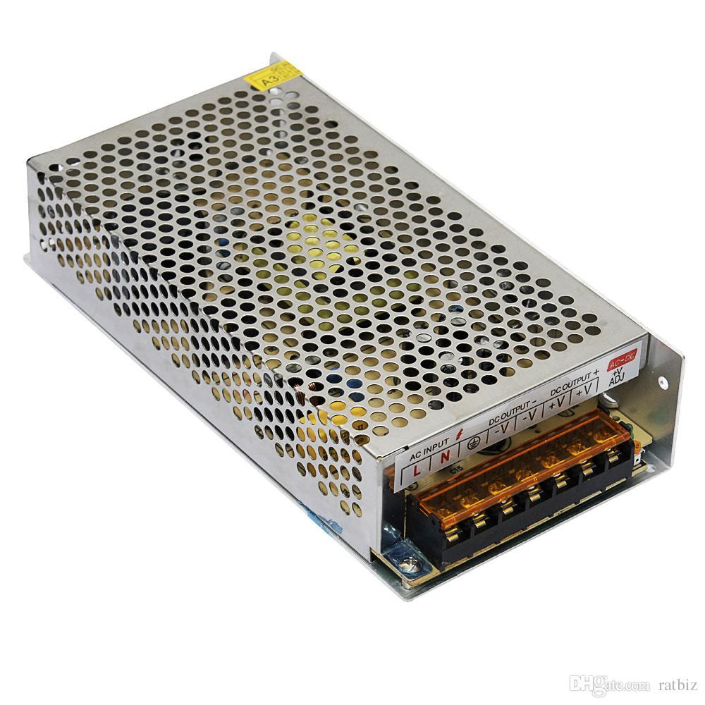 120W 24V 5A Fuente de alimentación conmutada AC-DC 100v-240V a salida DC doble 24V Transformador de voltaje convertidor de alimentación para luz de tira LED