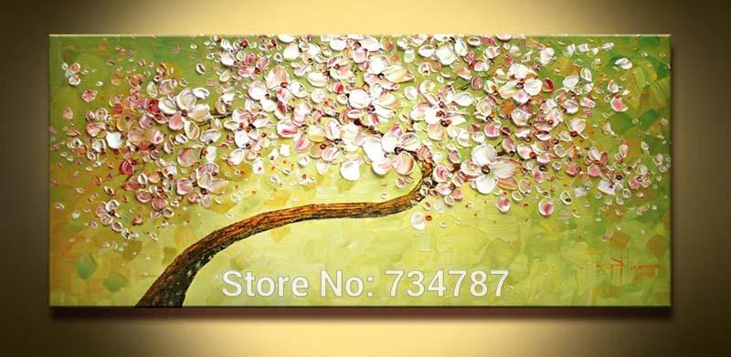 2018 Palette Knife Art Oil Painting Hand Painted Wall Decor Picture ...