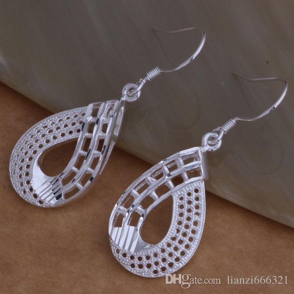 Mode fabricant de bijoux beaucoup cinq feuilles boucles d'oreilles 925 bijoux en argent sterling prix usine Mode Shine boucles d'oreilles AE001