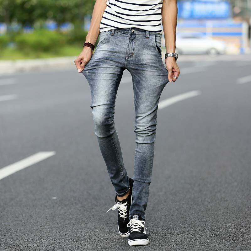 Online Cheap Brand Mens Hip Hop Korean Skinny Jeans Men Fashion ...