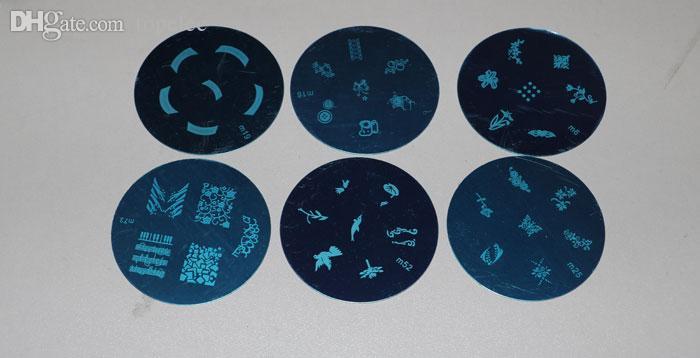 DIY Nail Art Stamp Stamping Plantilla de diseño de placa de imagen de acero inoxidable envío gratuito 60154