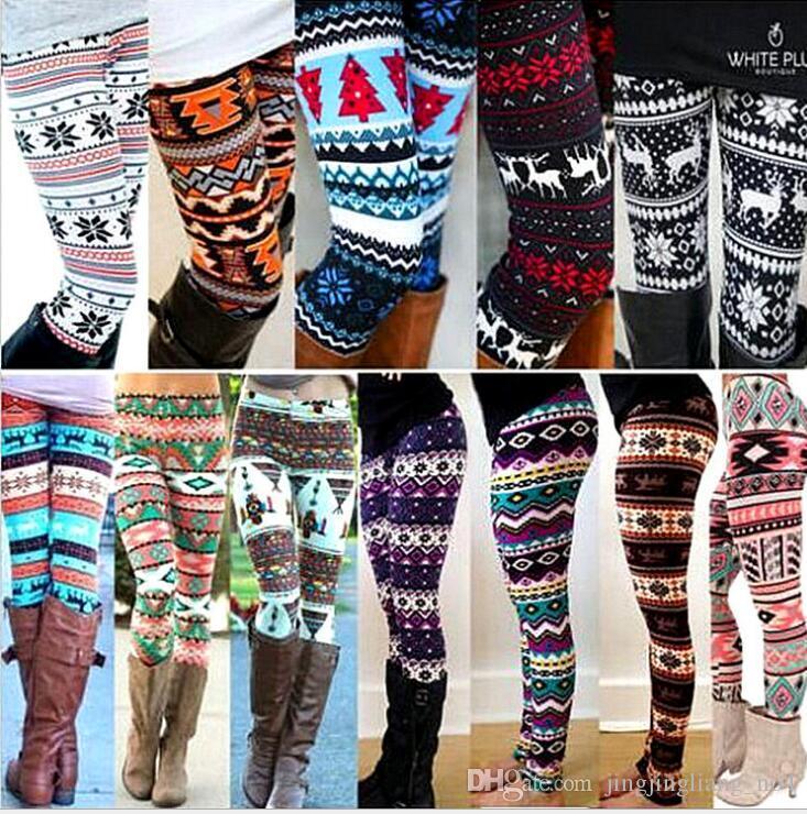 78f6a0e6c841a8 2019 Christmas Snowflakes Reindeer Printed Legging Big Girls Women Spring  Autumn Tights Warm Stretchy Pants 15 DESIGN KKA3343 From Jingjingliang_no4,  ...
