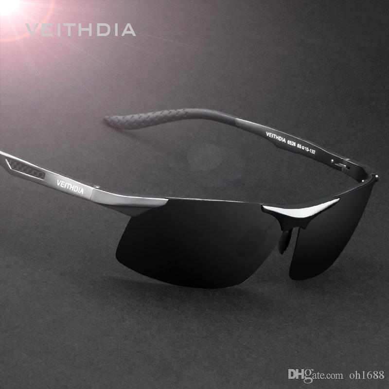 a46ba463021 VEITHDIA Aluminum Magnesium Men Sunglasses Brand Designer Polarized ...