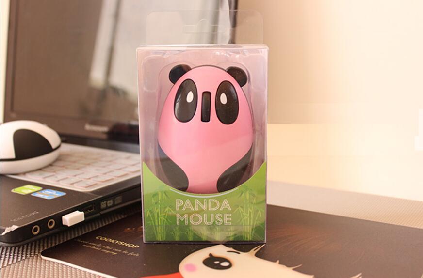 素敵なパンダUSBワイヤレスマウス、2.4gワイヤレス充電式マウス、内蔵リチウム充電式ワイヤレスマウスコンピュータ