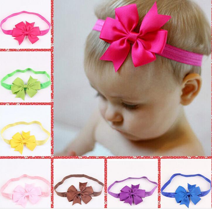 Boutique Hair Bows Baby Hair Headband Big Ribbon Bows Baby Girls
