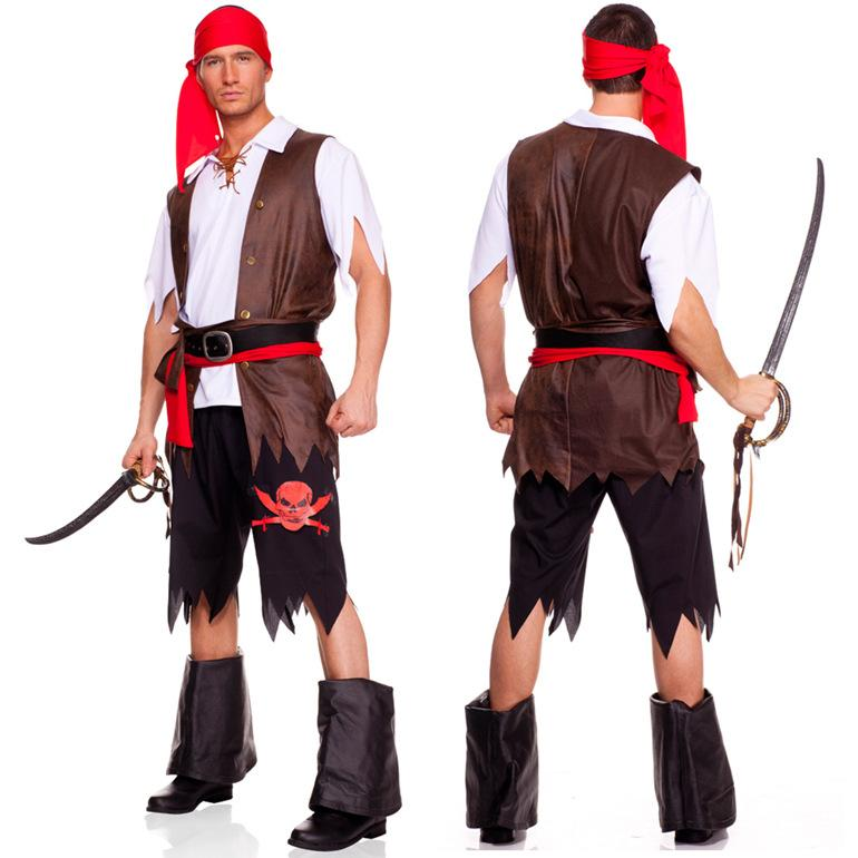 rogue pirate costume halloween men pirates of the caribbean pirate clothing fat people dress uniforms halloween cospay for men costume accessories