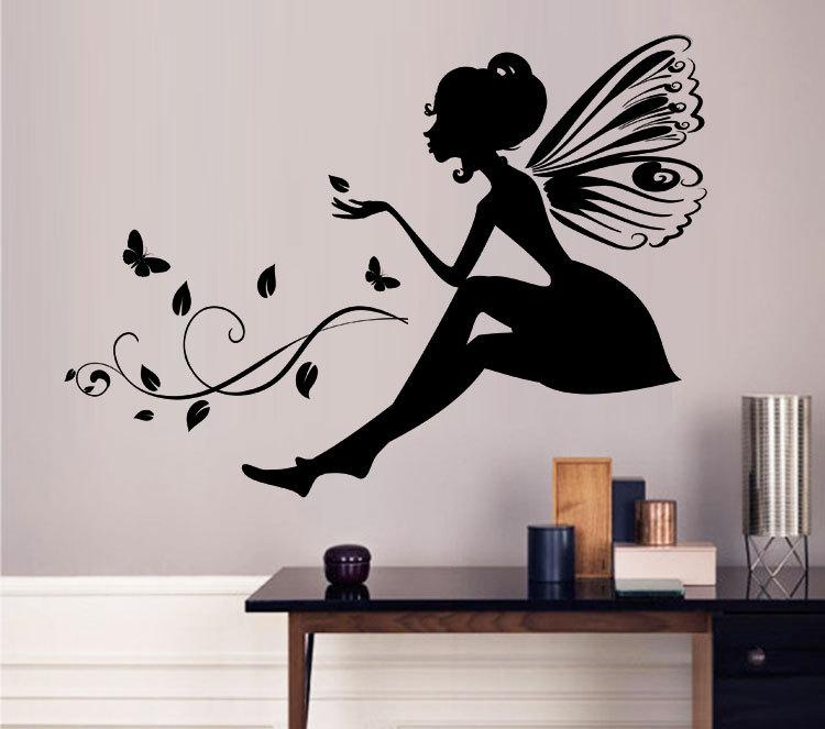 Flower Fairy Wall Decoration Quote Vinyl Wall Stickers Art Mural