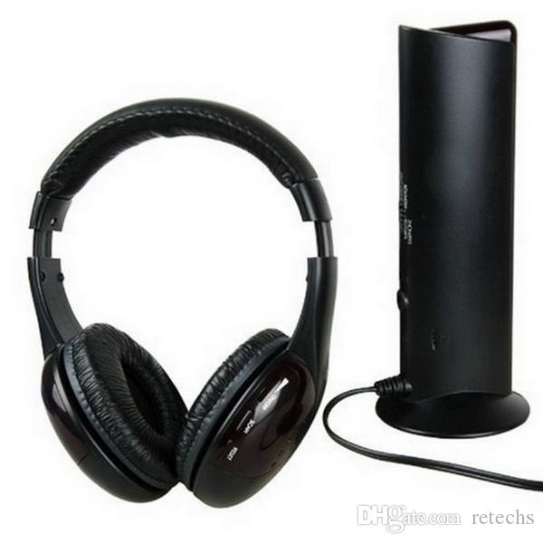 5 em 1 dj gaming hi-fi sem fio fone de ouvido fone de ouvido fone de ouvido de rádio fm monitor mptv telefones celulares fones de ouvido dhl