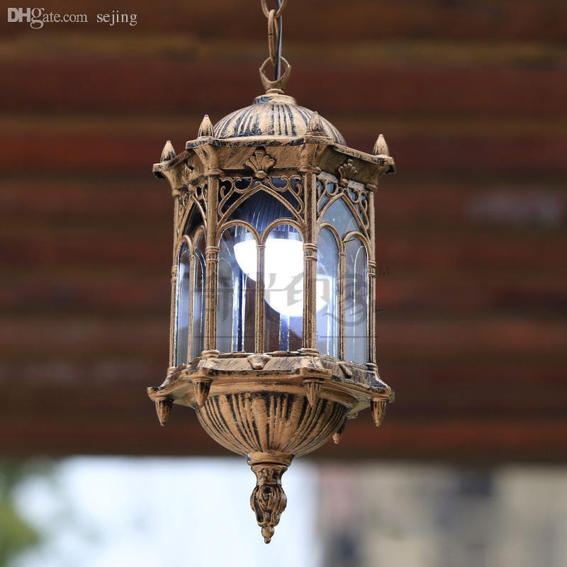 Wholesale European Vintage Outdoor Porch Pendant Lights