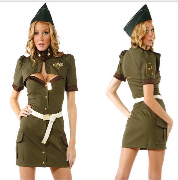 Army Green Spy Halloween Dress Us American Sailor Policewoman ...