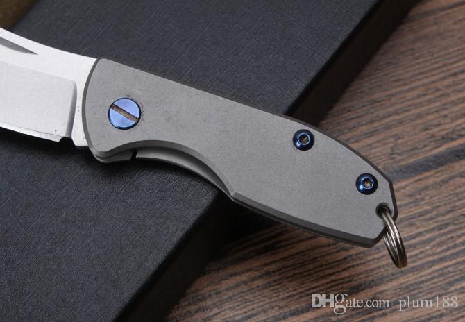 2017 nuevos productos campo de caza al aire libre cortador cuchillo de hacha sin llave de alta calidad mango de titanio acero D2