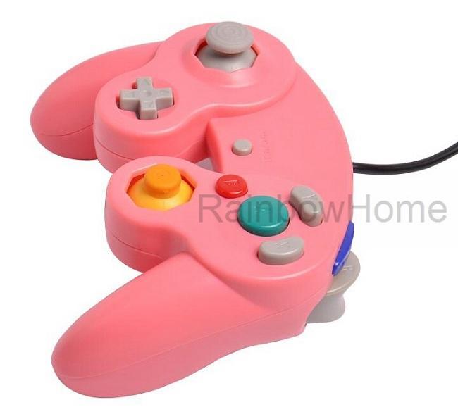 السلكية الألعاب لعبة تحكم gamepad المقود ل ngc console gamecube وي يو التمديد كابل توربو dualshock اللون شفافة