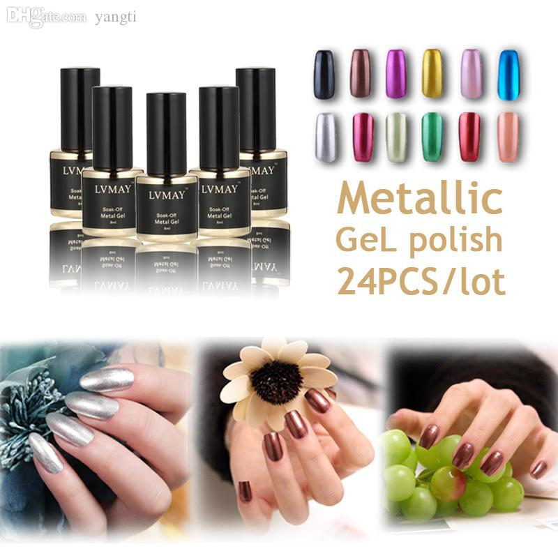 Wholesale-New European And American Fashion Metallic Nail Polish UV ...