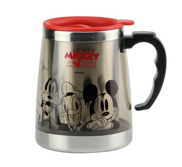 Compre mickey mouse acero inoxidable t rmica vasos tazas - Taza termica para cafe ...