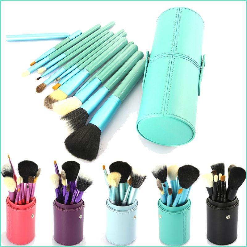 makeup brush cup. makeup brush set black cosmetic brushes tool kit with leather cup holder case green light blue maquiagem pinceis sets from