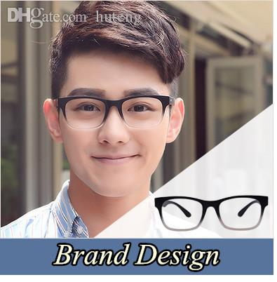 Wholesale- 2018 Brand Design Eyewear Frames eye glasses For Men frames Male eyeglasses Computer optical Spectacle frame Myopia Plain Glass