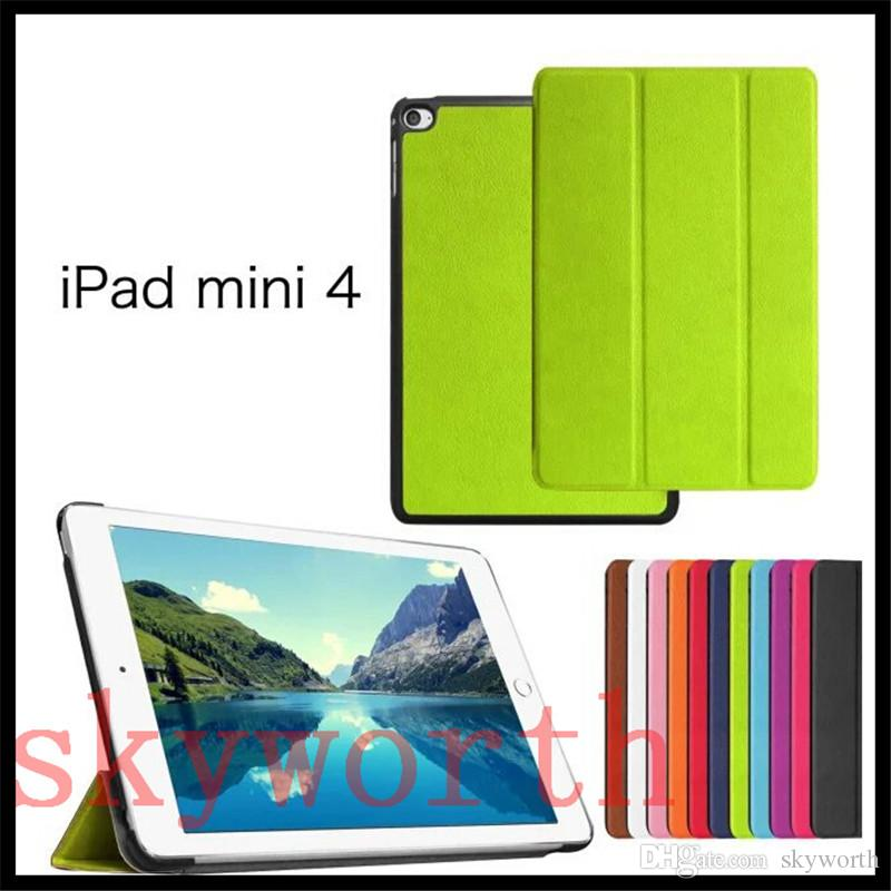 Best Tri-Fold leather case for ipad Pro 9.7 air2 air 4 3 2 mini Samsung Galaxy tab S2 A E S cover