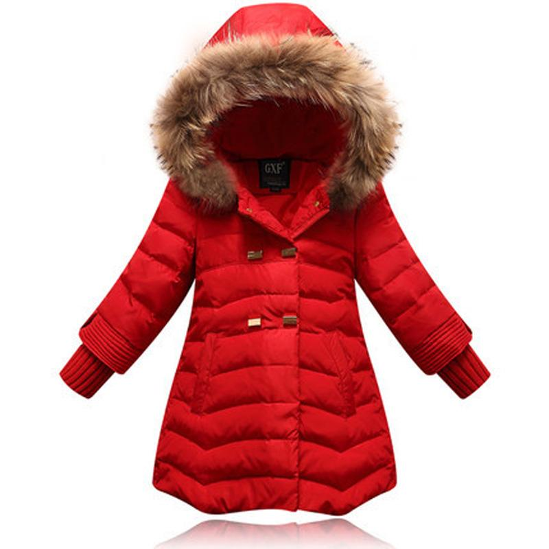 Girl Down Jacket 6 12y Outdoor Coat Winter Long Clothing For Girls ...