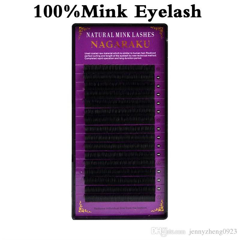 J B C D Curl Length 8-15mm Artificial Mink Eyelash Extensions 0.07mm Thickness Individual Mink Eyelash Lashes