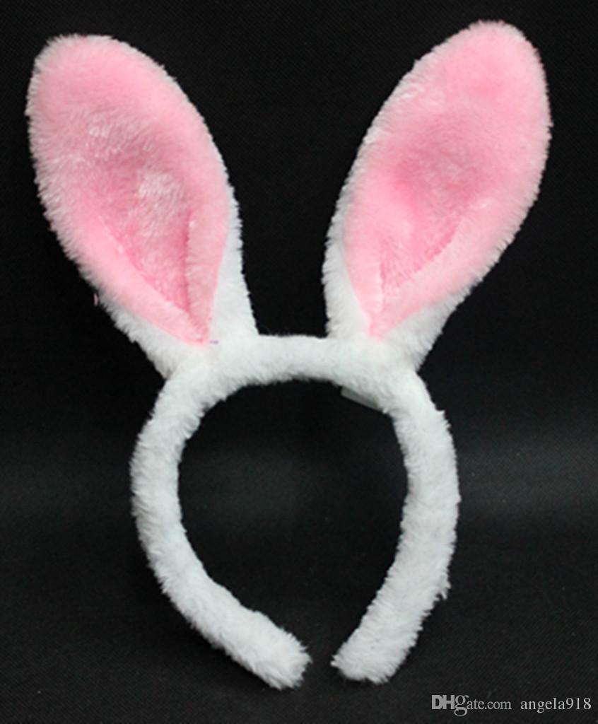 2016 halloween cosplay kawaii bunny ears headbands lovely long