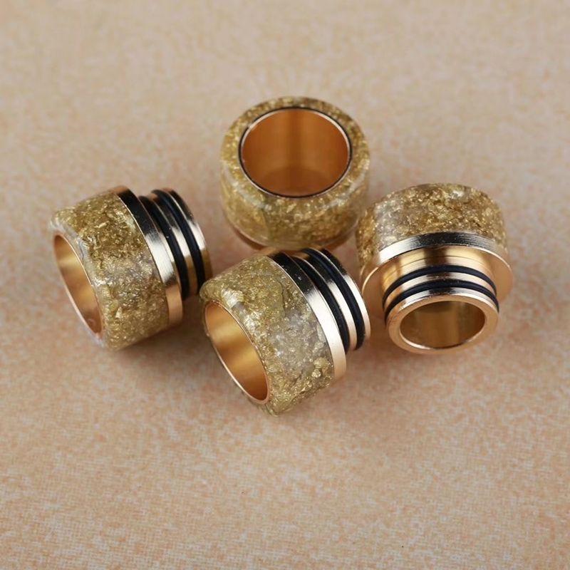 Epoxidharz Tropfspitzen Luxuxgold Farbe Goon 528 Drip Tips für Kennedy 24 RDA AV Kampf RDA Atomizer mit Kleinpaket-Qualität
