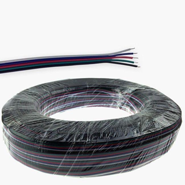 El conector flexible del cable del cable del cable de extensión del cable rgbw de 100M 5pin para RGBW 5050 llevó la luz de tiras
