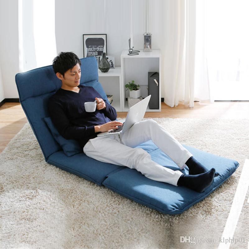 2019 Adjustable Fabric Folding Chaise Lounge Sofa Chair Floor Couch ...