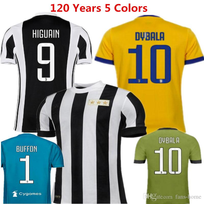 e2290ccd0 2019 Italy Soccer Jersey Dybala Football Shirts 17 18 Higuain Camisetas De  Futbol Juvens Buffon Chiellini Pjanic Costa Serie Uniforms Kids From Fans  Home