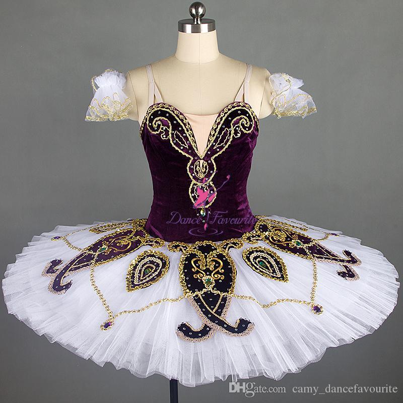 479f290db Hermosa púrpura clásico ballet de danza tutu personalizar traje de  actuación en el escenario profesional para niñas adultas solo danza b18302