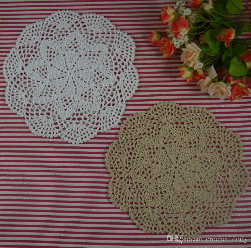 2019 Handmade Crocheted Doilies Vintage Flower Lace Crochet Doily