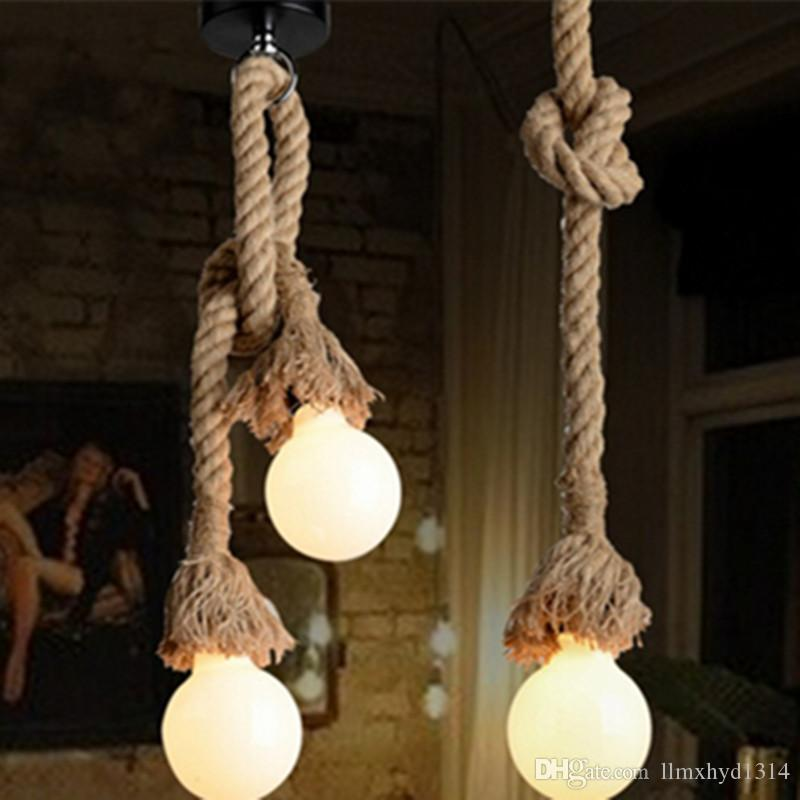 Retro rope hanging lamps loft vintage pendant lamp restaurant retro rope hanging lamps loft vintage pendant lamp restaurant bedroom diningroom pendant lamp hand knitted hemp rope lights flush ceiling lights glass aloadofball Choice Image