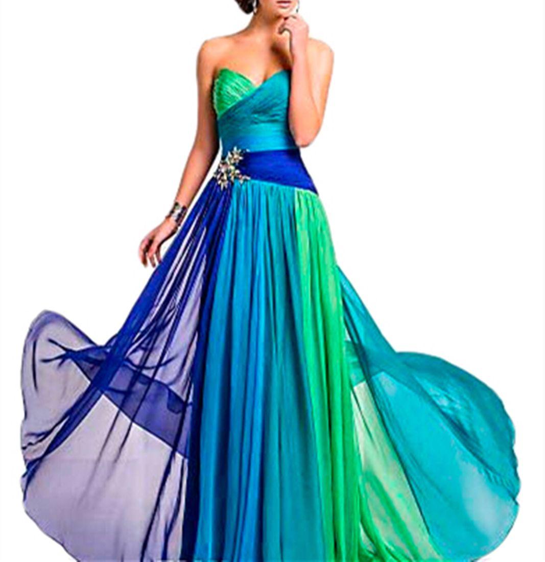 Emmani Gorgeous Women\'S Sweetheart Colorful Rainbow Belt Decoration ...