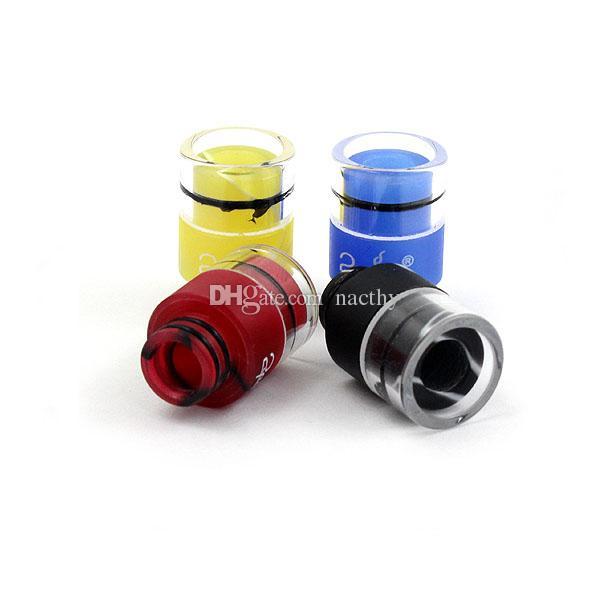 Rich Colors Drip Tip 510 Glass Acrylic Wide Bore Drip Tips for DCT 510 EGO RDA Box mod Vaporizer Atomizer E Cigarettes Mouthpieces