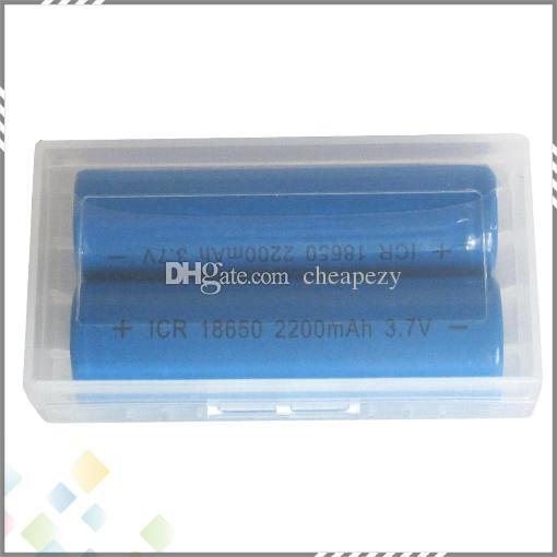 2 * 18650 Custodia batterie Custodia di sicurezza Contenitore di stoccaggio Custodia in plastica portatile adatta 2 * 18650 o 4 * 18350 CR123A 16340 Batteria DHL Libero
