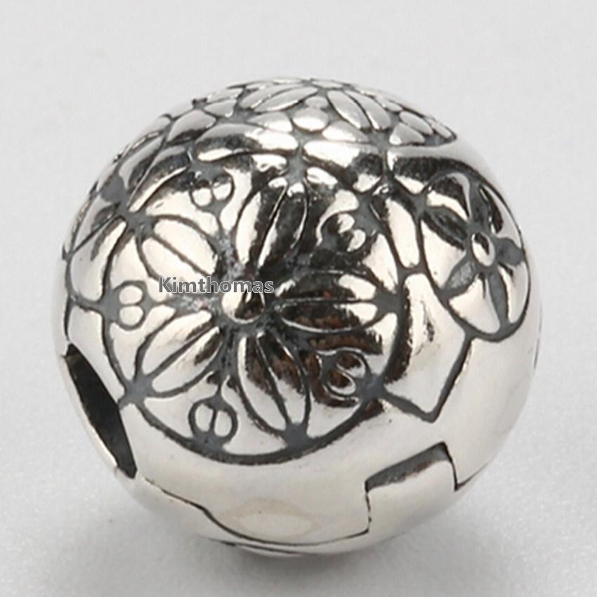 100% 925 Sterling Silver Da Vinci Clip Charm Bead Fits European Pandora Jewelry Bracelets Necklaces & Pendants
