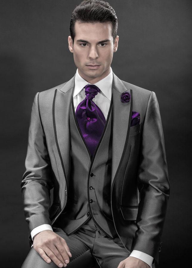 2016 Custom Made Morning Style Groom Tuxedos Best Man Peak Lapel ...